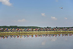 The peleton in action during Stage 18 of the 2018 Giro d'Italia, running 196km from Abbiategrasso to Prato Nevoso, Italy. 24th May 2018.<br /> Picture: LaPresse/Fabio Ferrari | Cyclefile<br /> <br /> <br /> All photos usage must carry mandatory copyright credit (&copy; Cyclefile | LaPresse/Fabio Ferrari)