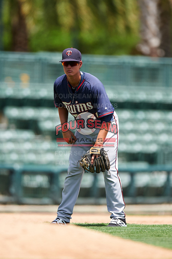 GCL Twins third baseman Jose Miranda (30) during a game against the GCL Orioles on August 11, 2016 at the Ed Smith Stadium in Sarasota, Florida.  GCL Twins defeated GCL Orioles 4-3.  (Mike Janes/Four Seam Images)