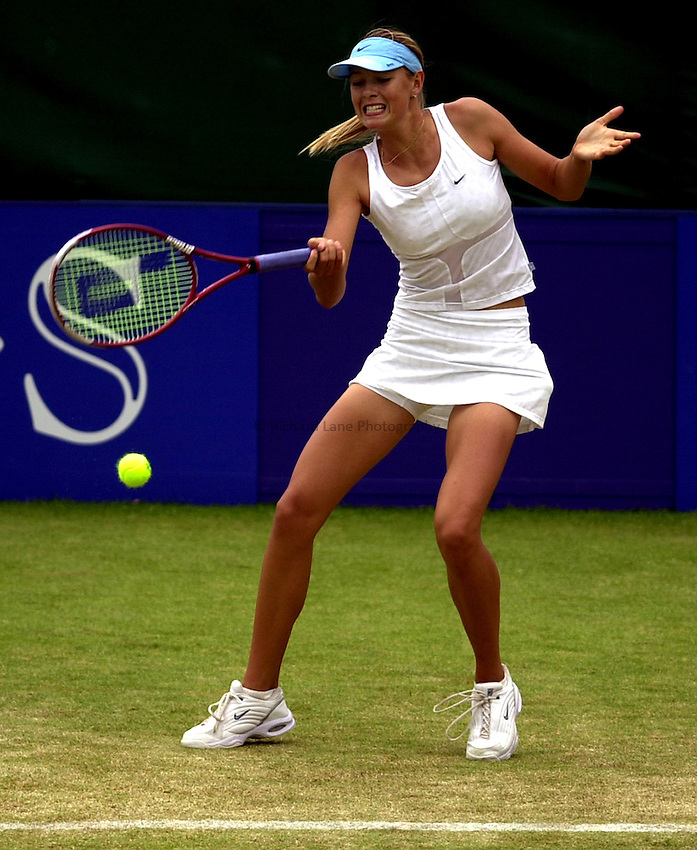 Photo: Richard Lane..DFS Classic Women's International Tennis at Edgebaston. 14/06/2003..Maria Sharapova.