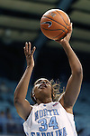 24 November 2012: North Carolina's Xylina McDaniel. The University of North Carolina Tar Heels played the La Salle University Explorers at Carmichael Arena in Chapel Hill, North Carolina in an NCAA Division I Women's Basketball game. UNC won the game 85-55.