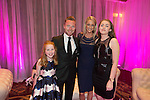 Ronan Keating with Storm Uechtritz and his family at the gala dinner.<br /> The Celebrity Cup 2015<br /> Celtic Manor Resort<br /> <br /> 04.07.15<br /> &copy;Steve Pope - SPORTINGWALES