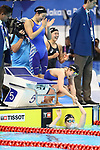 Japan team group (JPN), <br /> AUGUST 19, 2018 - Swimming : <br /> Women's 4x100m Freestyle Relay Final <br /> at Gelora Bung Karno Aquatic Center <br /> during the 2018 Jakarta Palembang Asian Games <br /> in Jakarta, Indonesia. <br /> (Photo by Naoki Nishimura/AFLO SPORT)