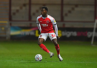 Fleetwood Town's Jay Matete in action<br /> <br /> Photographer Dave Howarth/CameraSport<br /> <br /> Leasing.com Trophy Northern Section Round Three - Fleetwood Town v Accrington Stanley - Tuesday 7th January 2020 - Highbury Stadium - Fleetwood<br />  <br /> World Copyright © 2018 CameraSport. All rights reserved. 43 Linden Ave. Countesthorpe. Leicester. England. LE8 5PG - Tel: +44 (0) 116 277 4147 - admin@camerasport.com - www.camerasport.com