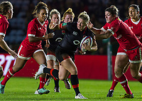 Rachael Burford takes on the Canadian defences, England Women v Canada in an Autumn International match at The Stoop, Twickenham, London, England, on 21st November 2017 Final score 49-12