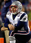 18 November 2007: New England Patriots center Lonie Paxton awaits the start of play prior to a game against the Buffalo Bills at Ralph Wilson Stadium in Orchard Park, NY. The Patriots defeated the Bills 56-10 in their second meeting of the season...Mandatory Photo Credit: Ed Wolfstein Photo
