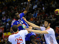 Luc Abalo during the match against Croatia