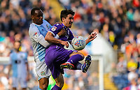 Blackburn Rovers' Ryan Nyambe battles with Stoke City's Bojan Krkic<br /> <br /> Photographer Alex Dodd/CameraSport<br /> <br /> The EFL Sky Bet Championship - Blackburn Rovers v Stoke City - Saturday 6th April 2019 - Ewood Park - Blackburn<br /> <br /> World Copyright © 2019 CameraSport. All rights reserved. 43 Linden Ave. Countesthorpe. Leicester. England. LE8 5PG - Tel: +44 (0) 116 277 4147 - admin@camerasport.com - www.camerasport.com