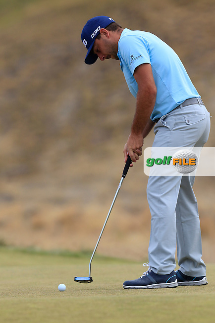 Stephen Jaeger (USA) putts on the 17th green during Thursday's Round 1 of the 2015 U.S. Open 115th National Championship held at Chambers Bay, Seattle, Washington, USA. 6/18/2015.<br /> Picture: Golffile | Eoin Clarke<br /> <br /> <br /> <br /> <br /> All photo usage must carry mandatory copyright credit (&copy; Golffile | Eoin Clarke)