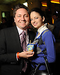 Tray Black and Emelie Jester at the Realcity Literacy party at 13 Celsius Thursday Feb. 18,2010. (Dave Rossman Photo)