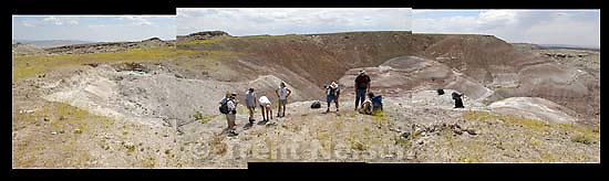 Dig site where rock-hound Larry Walker found the remains of a new vegetarian dinosaur.<br />