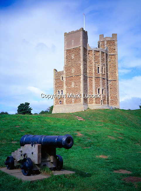 Orford Castle and cannon, Orford, Suffolk