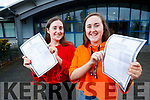 Leanne and Lauren Moriarty, Ballyrickard, Tralee, pictured at Mercy Mounthawk Secondary School, Tralee, after receiving their Leaving Certificate results on Wednesday morning last.