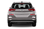Straight rear view of 2019 Hyundai Tucson Inspire 5 Door SUV Rear View  stock images