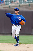 August 9, 2009:  Shortstop Darwin Barney of the Iowa Cubs during a game at Wrigley Field in Chicago, IL.  Iowa is the Pacific Coast League Triple-A affiliate of the Chicago Cubs.  Photo By Mike Janes/Four Seam Images