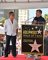 LOS ANGELES, CA. August 22, 2018: Simon Cowell & Rob Stringer at the Hollywood Walk of Fame Star Ceremony honoring Simon Cowell.