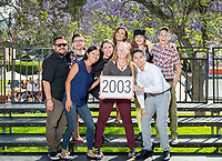 Group photo of the class of 2003.<br /> Occidental College hosts its annual Alumni Reunion Weekend, June 22-24, 2018 on campus. This year, alumni from the classes of 1968, 1973, 1978, 1983, 1988, 1993, 1998, 2003, 2008 and 2013 gathered to reconnect with friends and family in the Oxy community.<br /> (Photo by Marc Campos, Occidental College Photographer)