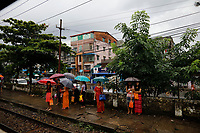 Train, Yangon, Myanmar in 2017