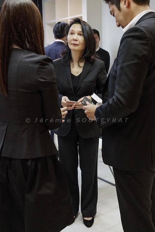 Tokyo, January 20 2015 - Nana Watanabe, founder of Ashoka Japan, during the launch party of Ashoka University in Japan.