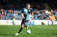 Garry Thompson of Wycombe Wanderers on the ball during the Sky Bet League 2 match between Wycombe Wanderers and Barnet at Adams Park, High Wycombe, England on 16 April 2016. Photo by Andy Rowland.