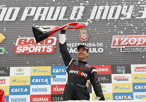 30 April - 1 May, 2011, Sao Paulo, Sao Paulo Brazil<br /> Will Power celebrates in victory lane.<br /> © 2011 Phillip Abbott<br /> LAT Photo USA