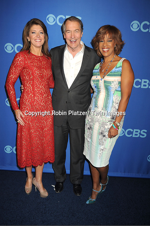 "Norah O' Donnell, Charlie Rose and Gayle King of ""CBS This Morning""  attend the CBS Prime Time 2013 Upfront on May 15, 2013 at Lincoln Center in New York City."
