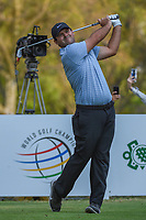 Patrick Reed (USA) watches his tee shot on 18 during round 4 of the World Golf Championships, Mexico, Club De Golf Chapultepec, Mexico City, Mexico. 2/24/2019.<br /> Picture: Golffile | Ken Murray<br /> <br /> <br /> All photo usage must carry mandatory copyright credit (© Golffile | Ken Murray)