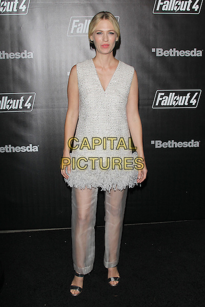 LOS ANGELES, CA - NOVEMBER 5: January Jones at the Fallout 4 video game launch event in downtown Los Angeles on November 5, 2015 in Los Angeles, California. <br /> CAP/MPI21<br /> &copy;MPI21/Capital Pictures