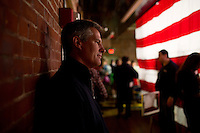 Senator Scott Brown (R-MA) waits backstage to be introduced at a rally at the American Civic Center in Wakefield, Massachusetts, USA, on Thurs., Nov. 2, 2012. Senator Scott Brown is seeking re-election to the Senate.  His opponent is Elizabeth Warren, a democrat.