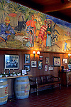 Mural in tasting room, Firestone Vineyards, along Zaca Station Road, Santa Barbara County, California