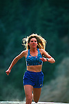 Woman running at the American River