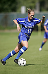 Lauren Tippets of Duke on Sunday October 2nd, 2005 at SAS Stadium in Cary, North Carolina. The Duke University Blue Devils defeated the North Carolina State University Wolfpack 1-0 during an Atlantic Coast Conference women's soccer game.