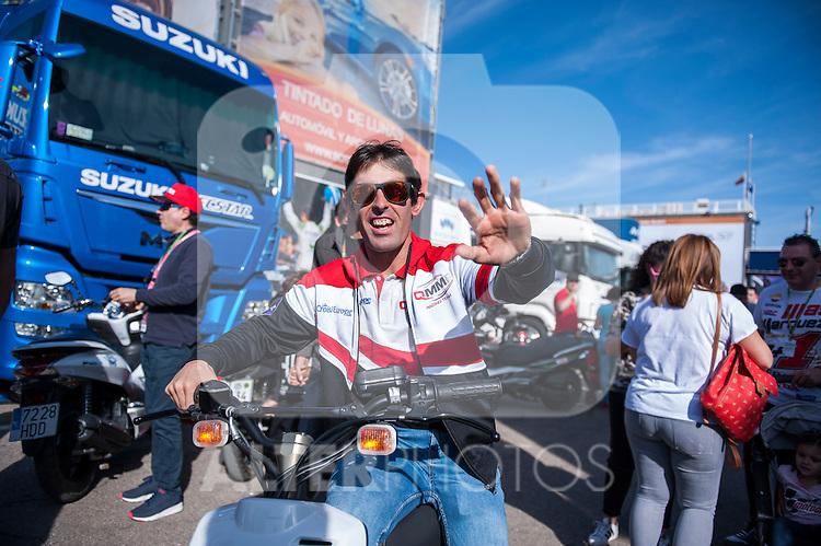 VALENCIA, SPAIN - NOVEMBER 11: Julian Simon during Valencia MotoGP 2016 at Ricardo Tormo Circuit on November 11, 2016 in Valencia, Spain