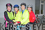 LADIES: Raising funds at the Ballyheigue 50k Cycle in Ballyheigue on Saturday l-r: caroline Lynch, Frances O'Connell, Bobs Barry and Mary Dillane.