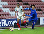 England's Isaac Hadyn tussles with Italy's Antonio Barreca during the Under 21 International Friendly match at the St Mary's Stadium, Southampton. Picture date November 10th, 2016 Pic David Klein/Sportimage