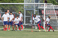 Boston, MASS. - Monday, September 7, 2015: The USMNT train at Harvard University in preparation for their international friendly match against Brazil.