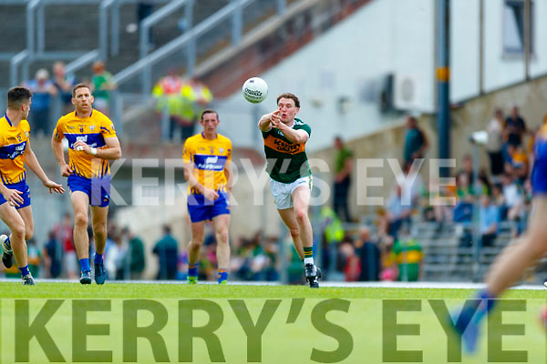 Tadhg Morley Kerry in action against  Clare during the Munster GAA Football Senior Championship semi-final match between Kerry and Clare at Fitzgerald Stadium in Killarney on Sunday.