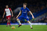Chelsea's Cesc Fabregas in action <br /> <br /> Photographer Craig Mercer/CameraSport<br /> <br /> The Premier League - Chelsea v West Bromwich Albion - Monday 12th February 2018 - Stamford Bridge - London<br /> <br /> World Copyright &copy; 2018 CameraSport. All rights reserved. 43 Linden Ave. Countesthorpe. Leicester. England. LE8 5PG - Tel: +44 (0) 116 277 4147 - admin@camerasport.com - www.camerasport.com