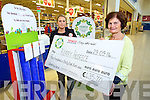 Tesco community Fund Programme - Caroline Britton Store Manager Tralee Manor, Presents a cheque for €435.70 to  Mary Shanahan, Kerry Hospice on Monday.Tesco's Manor West are looking for any Local charity to take part in next months programe