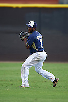 San Diego Padres Josh Magee (7) during warmups before an instructional league game against the Milwaukee Brewers on October 6, 2015 at the Peoria Sports Complex in Peoria, Arizona.  (Mike Janes/Four Seam Images)