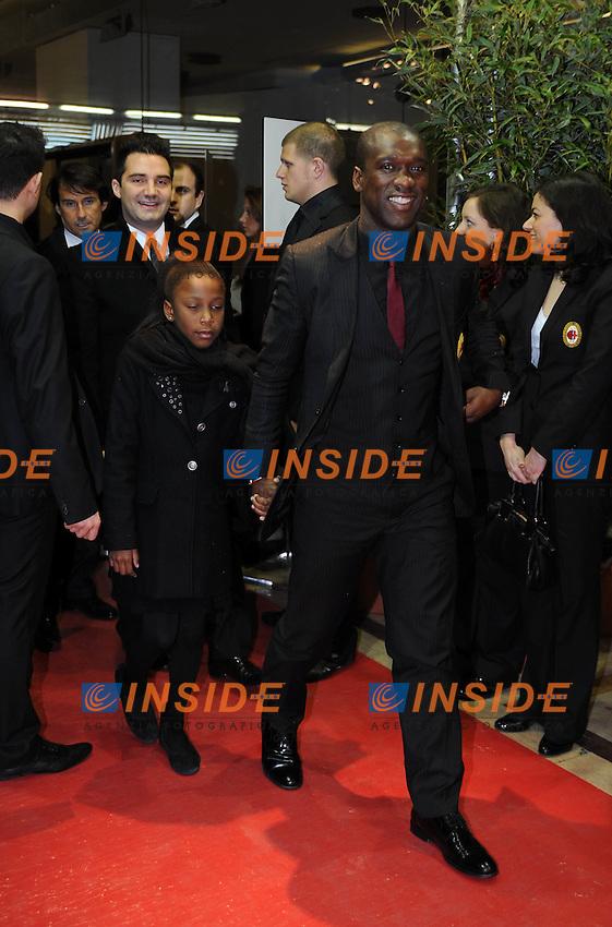 Clarence Seedorf<br /> Milano, 13/03/2011 Teatro Manzoni<br /> 25&deg; anniversario di presidenza Berlusconi al Milan<br /> Campionato Italiano Serie A 2010/2011<br /> Foto Nicolo' Zangirolami Insidefoto