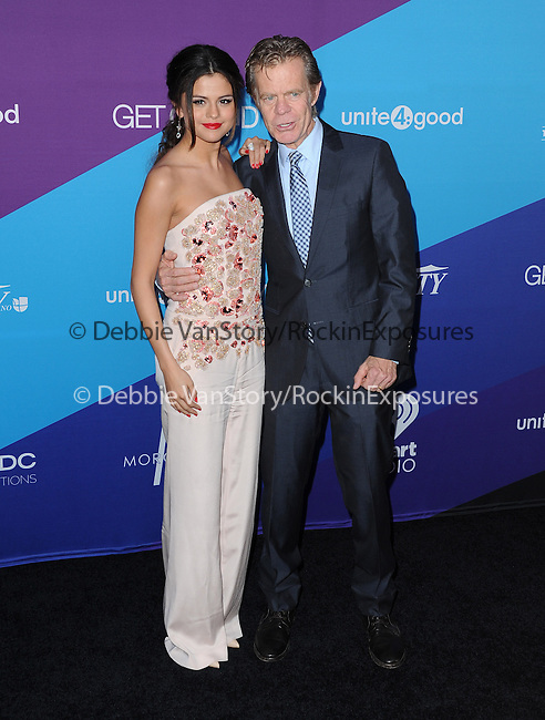"Selena Gomez and William H. Macy attends unite4:good and Variety presentation ""unite4:humanity"" Celebrating Good, Giving and Greatness Around the Globe held at Sony Picture Studios in Culver City, California on February 27,2014                                                                               © 2014 Hollywood Press Agency"