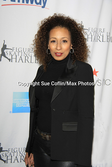 As The World Turns Tamara Tunie - The 2013 Skating with the Stars- a benefit gala for Figure Skating in Harlem on April 8, 2013 at Trump Wollman Rink, New York City, New York. (Photo by Sue Coflin/Max Photos)
