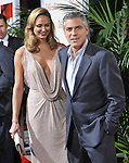 Stacy Keibler and George Clooney attends the Fox Searchlight Premiere of The Descendants held at The Academy of Motion Pictures,Arts & Sciences in Beverly Hills, California on November 15,2011                                                                               © 2011 DVS / Hollywood Press Agency