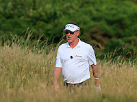 Miguel Angel Jimenez (ESP) walks to the 14th green during Thursday's Round 1 of the 145th Open Championship held at Royal Troon Golf Club, Troon, Ayreshire, Scotland. 14th July 2016.<br /> Picture: Eoin Clarke | Golffile<br /> <br /> <br /> All photos usage must carry mandatory copyright credit (&copy; Golffile | Eoin Clarke)
