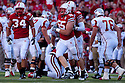 04 Sep 2010: Nebraska Cornhuskers defensive lineman Baker Steinkuhler (55) celebrates after stopping Western Kentucky Hilltoppers at Memorial Staduim in Lincoln, Nebraska. Nebraska defeated Western Kentucky 49 to 10.
