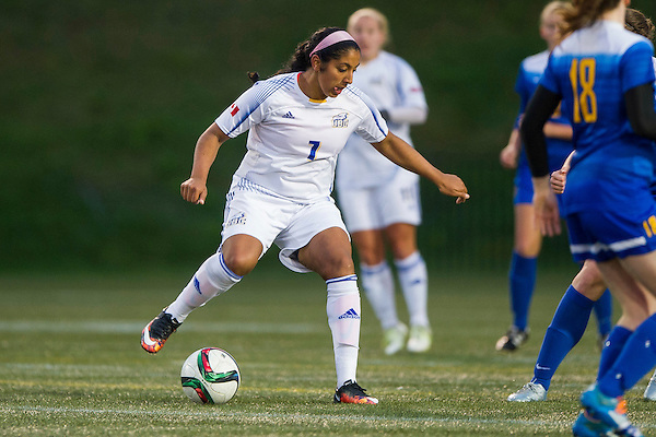 VANCOUVER,BC:OCTOBER 8, 2016 -- UBC Thunderbirds University University of Victoria Vikes during CIS Canada West women's soccer action at UBC in Vancouver, BC, October, 8, 2016. (Rich Lam/UBC Athletics Photo) <br /> <br /> ***MANDATORY CREDIT***