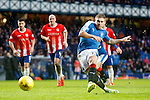 Martyn Waghorn scores his second and Rangers fourth goal from the penalty spot