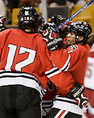 - The Northeastern University Huskies defeated the Harvard University Crimson 3-1 in the Beanpot consolation game on Monday, February 12, 2007, at TD Banknorth Garden in Boston, Massachusetts.