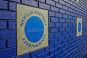 28th September 2017, Goodison Park, Liverpool, England; UEFA Europa League group stage, Everton versus Apollon Limassol; Neville Southhall plaque on Everton's giants wall of fame