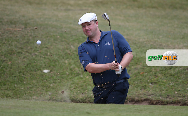 Chris Doak (SCO) finds the bunker on the 5th during Round Two of the Africa Open 2015 at the East London Golf Club, East London, Eastern Cape, South Africa. Picture:  David Lloyd / www.golffile.ie. 06/03/2015
